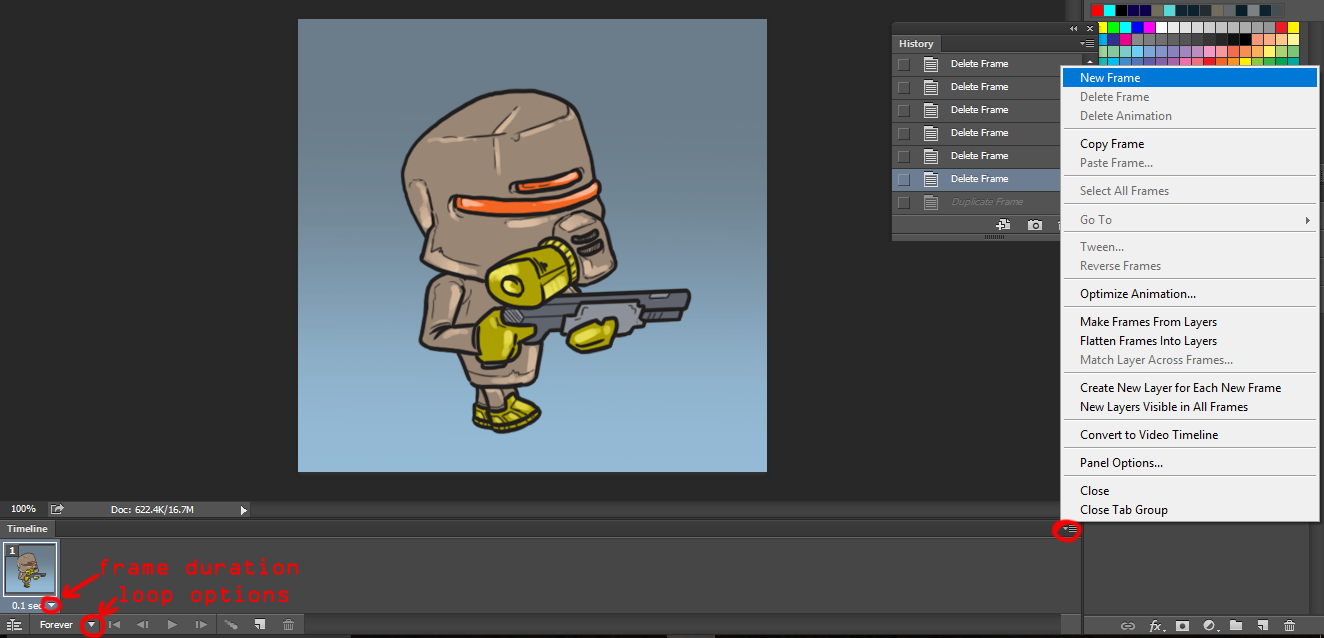 Photoshop frame animation tutorial for each frame you can choose which layersgroups will be visible or you can move different parts of our solider to create movement for frame 1 you turn on jeuxipadfo Images